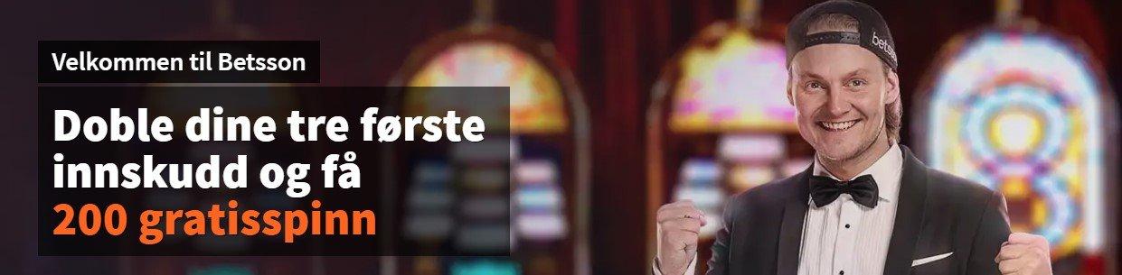 velkomstbonus hos betsson casino