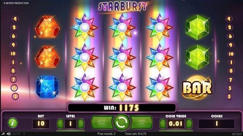 Starburst NetEnt Spilleautomat på net