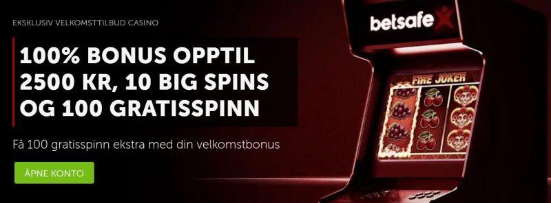 få en eksklusiv bonus hos betsafe casino