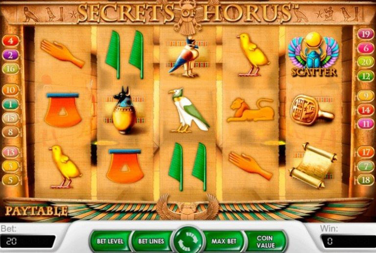 Secrets of Horus casinotopplisten