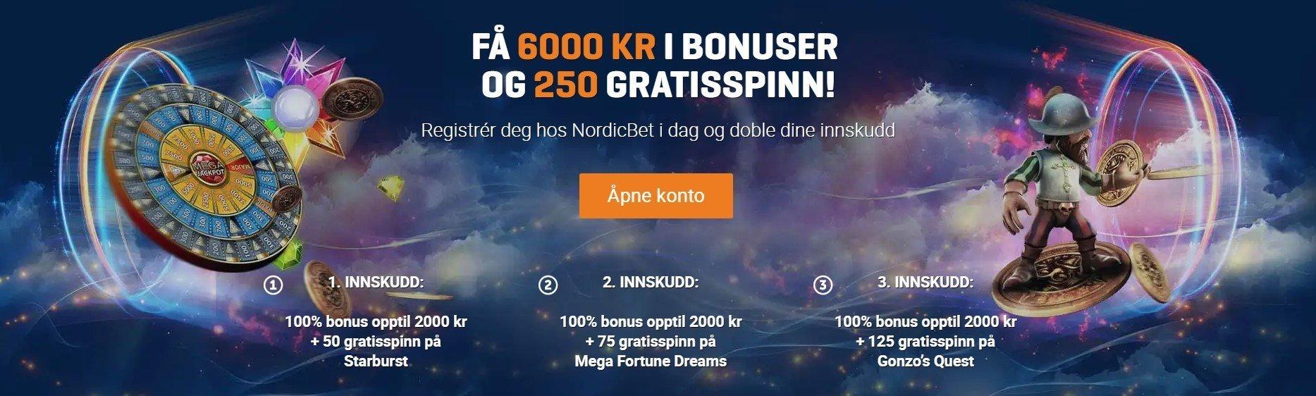 Velkomstbonus hos NordicBet