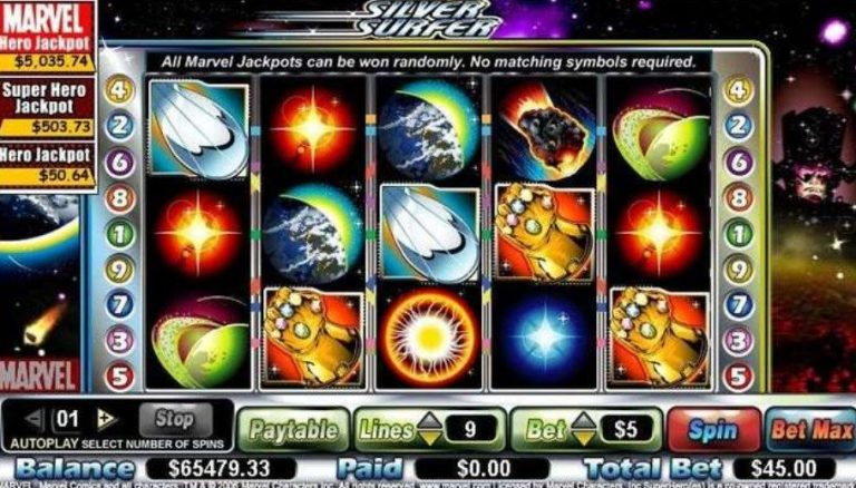 Silver Surfer casinotopplisten