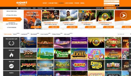 bonuser og spill hos expekt casino