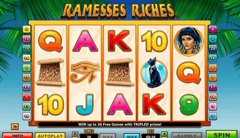 Ramesses Riches casinotopplisten