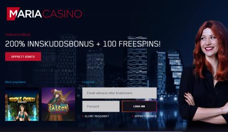 bonuser og gratisspinn hos maria bingo og casino