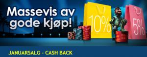 Cash back januarsalg