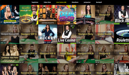 live casino hos thrills casino