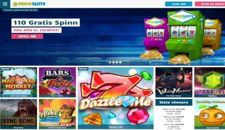 prime slots casino omtale og anmeldelse