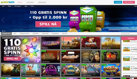 få gratisspinn og bonus hos prime slots casino