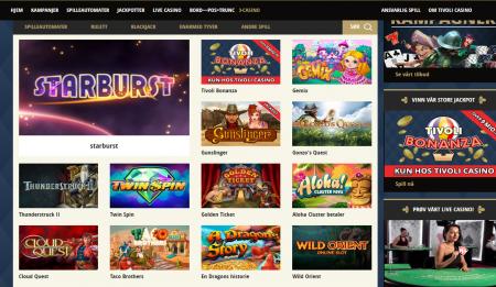 tivoli casino på nett