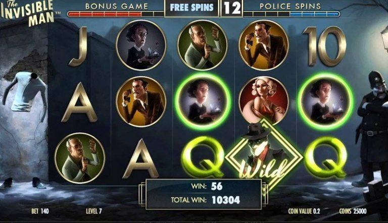 The Invisible Man casinotopplisten