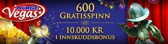 Norge Vegas bonus front