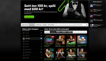 spill odds og casino hos mobilbet