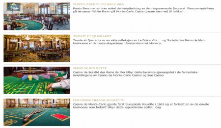 montecarlo casino på nettet