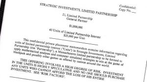 Strategic investment-brev