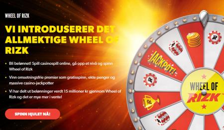 wheel of rizk - deres egne casino lykkehjul