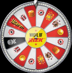 Wheel of Rizk er en av bonusfunksjonene hos Rizk casino