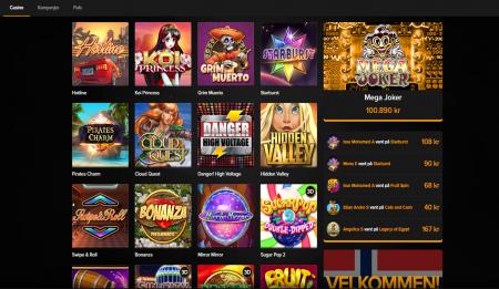 hva kan du spille hos mobil 6000 casino