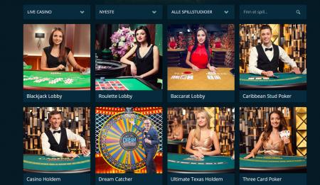spill live casino hos casinoland