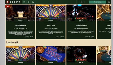 vi har testet codeta casino