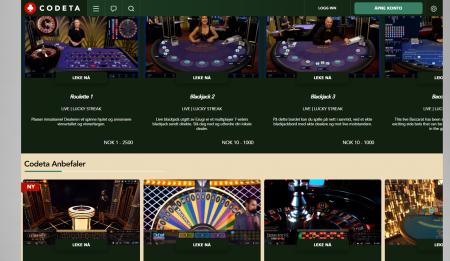 bonuser uten omsetningskrav hos codeta casino