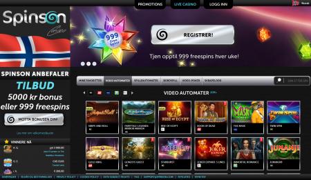 nytt norsk casino spinson