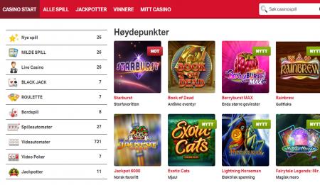 sjekk ut spillene hos mobilautomaten casino