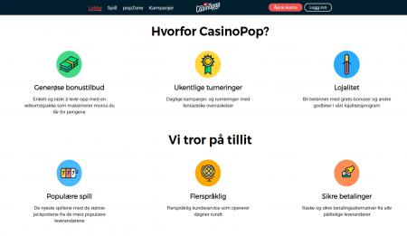 casinopop gir deg bonuser og tilbud