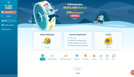 bonuser og kampanjer hos playfrank casino