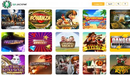 sir jackpot casino på nett