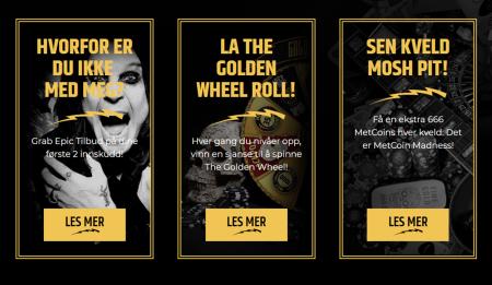 bonuser og kampanjer hos metal casino