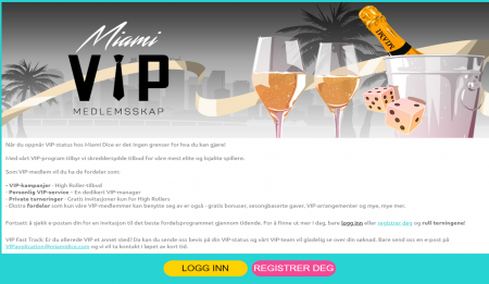 vip program hos miami dice casino