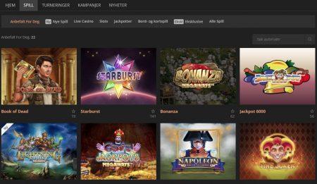 spilleautomater og spill hos storspiller casino