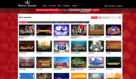 spill casino hos royal panda
