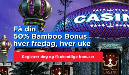 bonuser hver uke hos royal panda casino