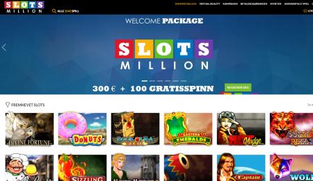 slotsmillion casino omtale