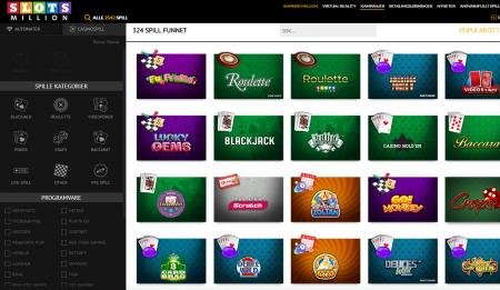 bonuser og kampanjer hos slotsmillion casino
