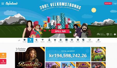omtale av spinland casino