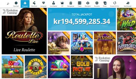 spinland casino har mange gode casinospill