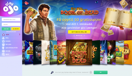 Få 50 gratisspinn hos Playojo casino
