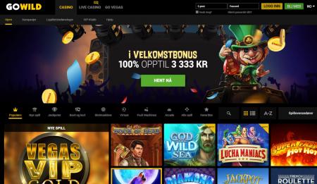nettcasinoet gowild casino byr på mange gode spill