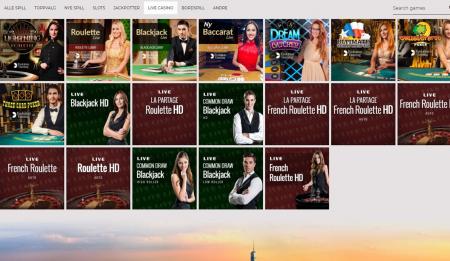 live casino og automater hos nyspins casino