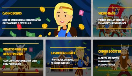 kampanjer og tilbud hos scandibet casino