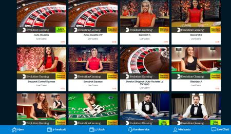 live casino og bonuser hos fun casino