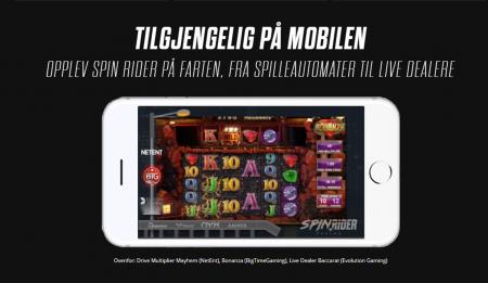 spill hos spinrider casino på mobilen din