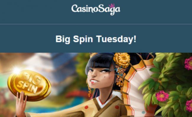 CasinoSaga bonus