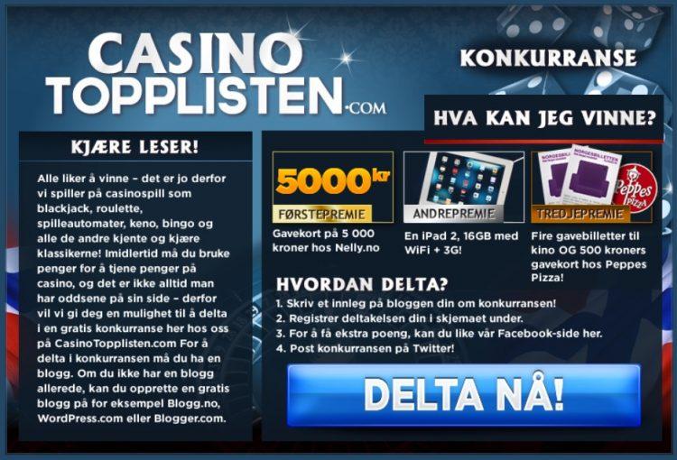 Casinotopplisten Konkurranse