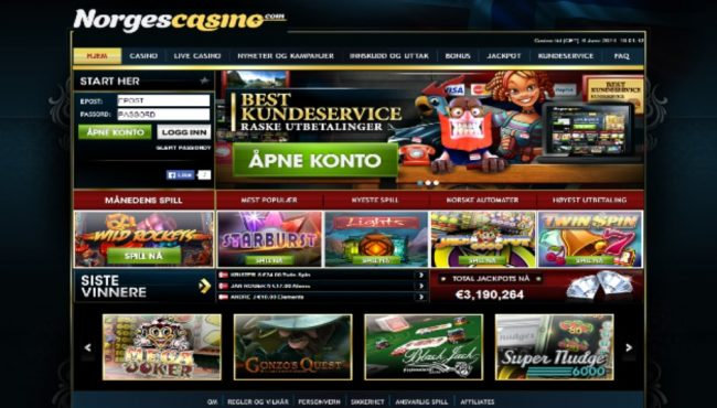 NorgesCasino Screenshot Kasino