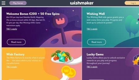 Skjermbilde av Wishmaker Casino Kampanjer