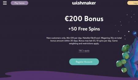 Skjermbilde av Wishmaker Casino Lobby
